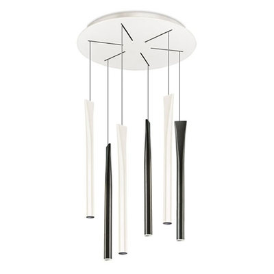 Rocket 6 Light Monochrome LED Pendant